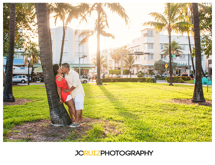 Summer Engagement Shoot On South Beach