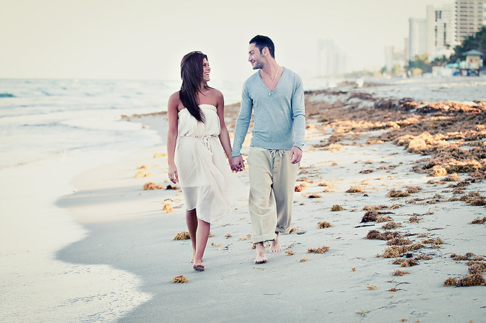 Hollywood Beach engagement photo shoot