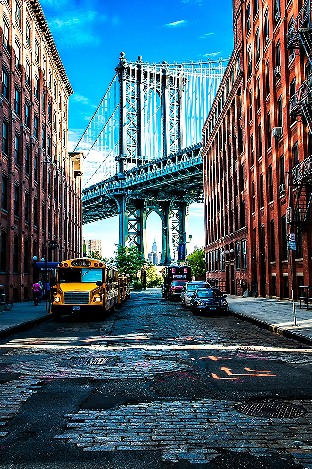 Manhattan Bridge from DUMBO, Brooklyn New York