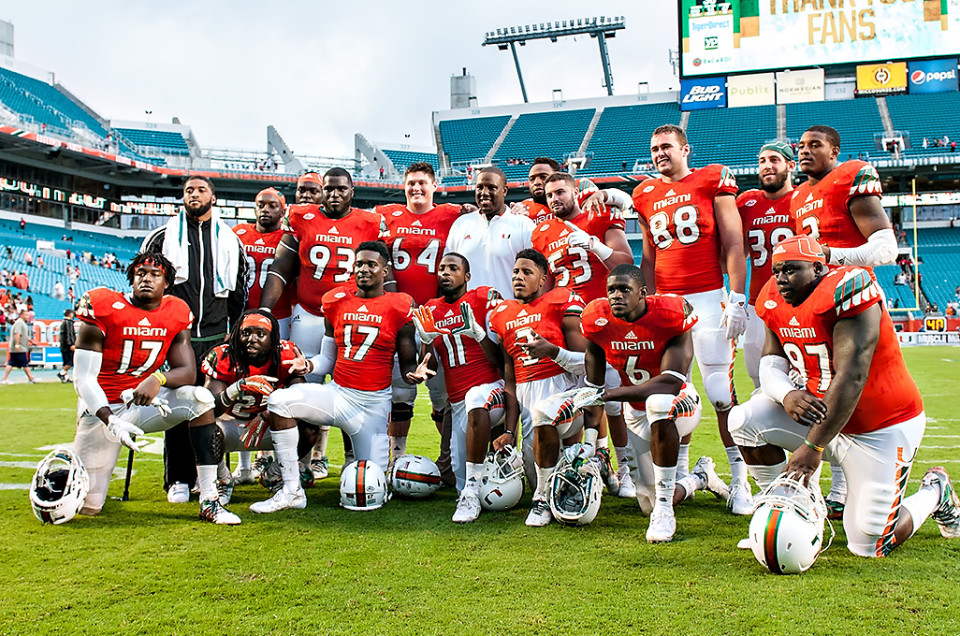 Miami Beats Georgia Tech on Senior Day