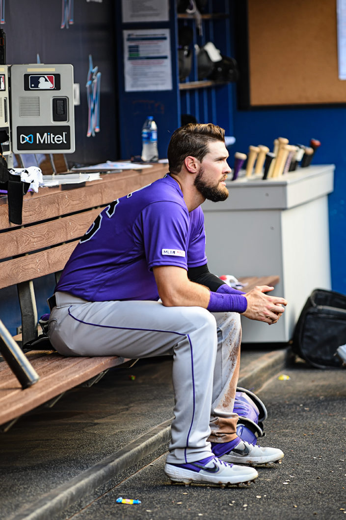 Colorado Rockies left fielder David Dahl #26