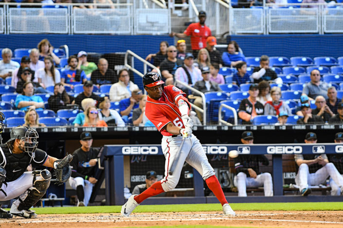 Washington Nationals center fielder Victor Robles #16