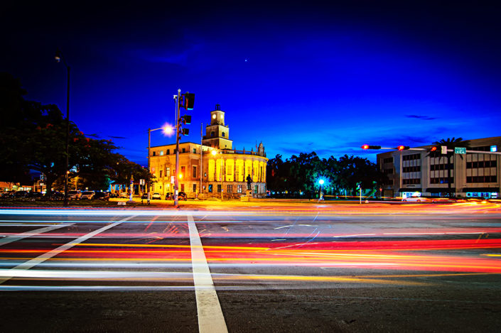 LeJune Road at night