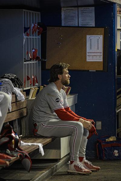 Philadelphia Phillies right fielder Bryce Harper #3 - Philadelphia Phillies vs. Miami Marlins at Marlins Park