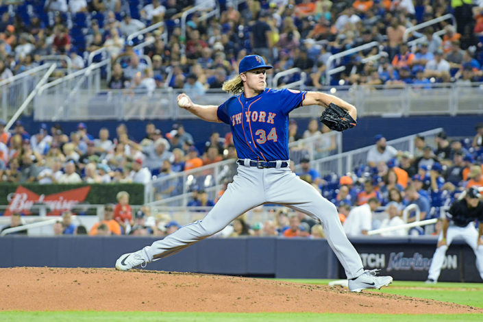 New York Mets starting pitcher Noah Syndergaard #34 - NY Mets vs. Miami Marlins at Marlins Park